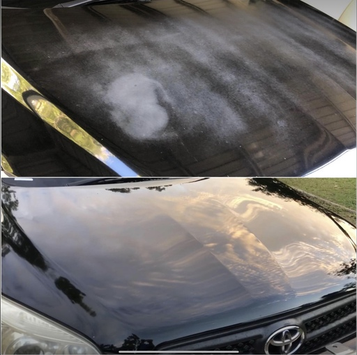 Before and after photos of scratch removal
